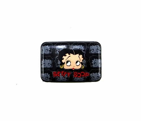 BBRF_3 Betty Boop Aluminum Card Wallet Black