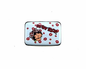 BBRF_1 Betty Boop Aluminum Card Wallet Gray