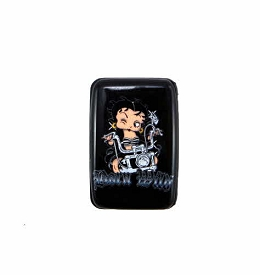 BBRF_5 Betty Boop Aluminum Card Wallet Black