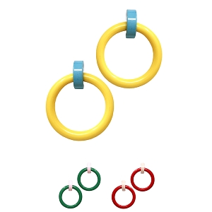 FER3135 Pop Color Combination Funky Oversized Hoop Earring