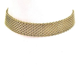 AMN3056 Simple Daily Chain Choker Necklace Antique-Gold