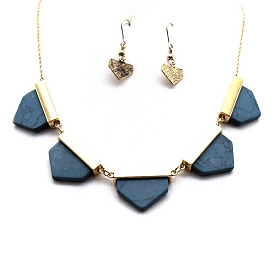 COS7080 Semi Precious Necklace SET Gray