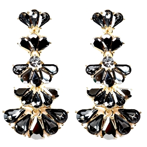NE1251 Glass Statement Dangle Earring GDBD