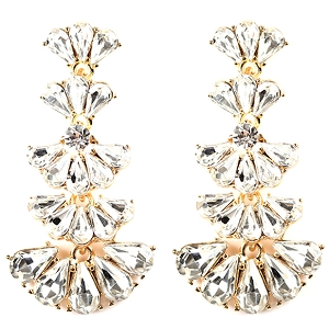 NE1251 Glass Statement Dangle Earring GDCR