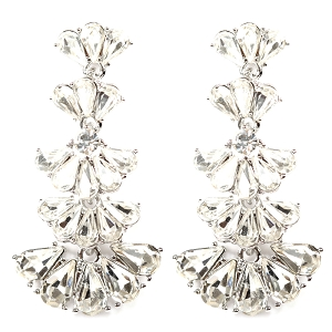 NE1251 Glass Statement Dangle Earring RDCR
