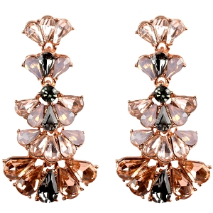 NE1251 Glass Statement Dangle Earring RGLPC