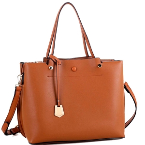 BY4150 Multi Compartment Classy 2 Way Satchel Tan