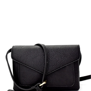 HY3084 Multi-Compartment Envelope Cross Body Black