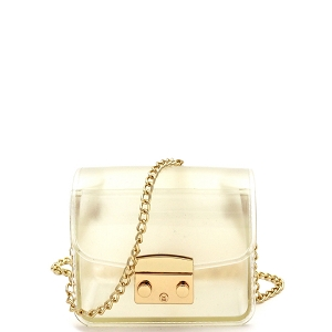 HPC3069 Pinch-Lock Accent Jelly Micro Mini Cross Body Clear