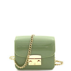 HPC3069 Pinch-Lock Accent Jelly Micro Mini Cross Body Mint