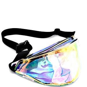 PB7054 Hologram Clear Fashion Fanny Pack