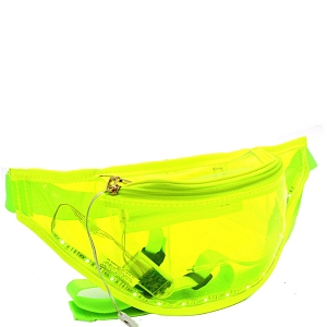 PB7354 Neon Clear LED Light-Up Fashion Fanny Pack Belt Bag Neon-Yellow