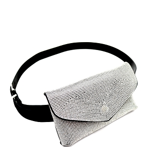 PB7581 Rhinestone Embellished Bling Evening Fanny Pack Clear