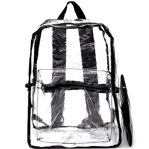 PP6481 Transparent Clear 2 in 1 Fashion Backpack Clear