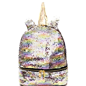 PP6749 Unicorn Theme Flashy Sequin Novelty Backpack Multi
