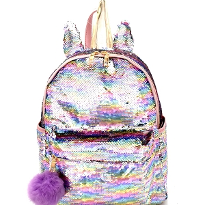 PP6668 Unicorn Inspired Sequin Flashy Fashion Backpack Multi