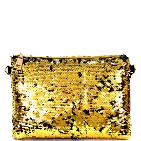 PPC5555 Allover Sequin Sparkle Clutch Gold