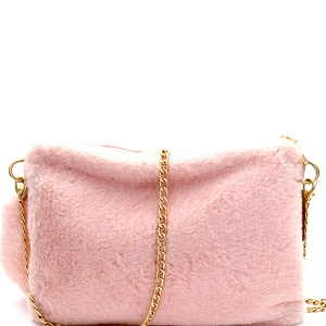 PPC5582 Faux-Fur Large Clutch Light-Pink