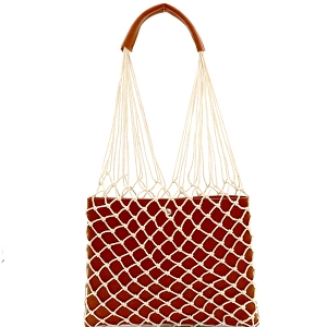 PPC6432 Unique Net Cutout 2 in 1 Hobo Camel