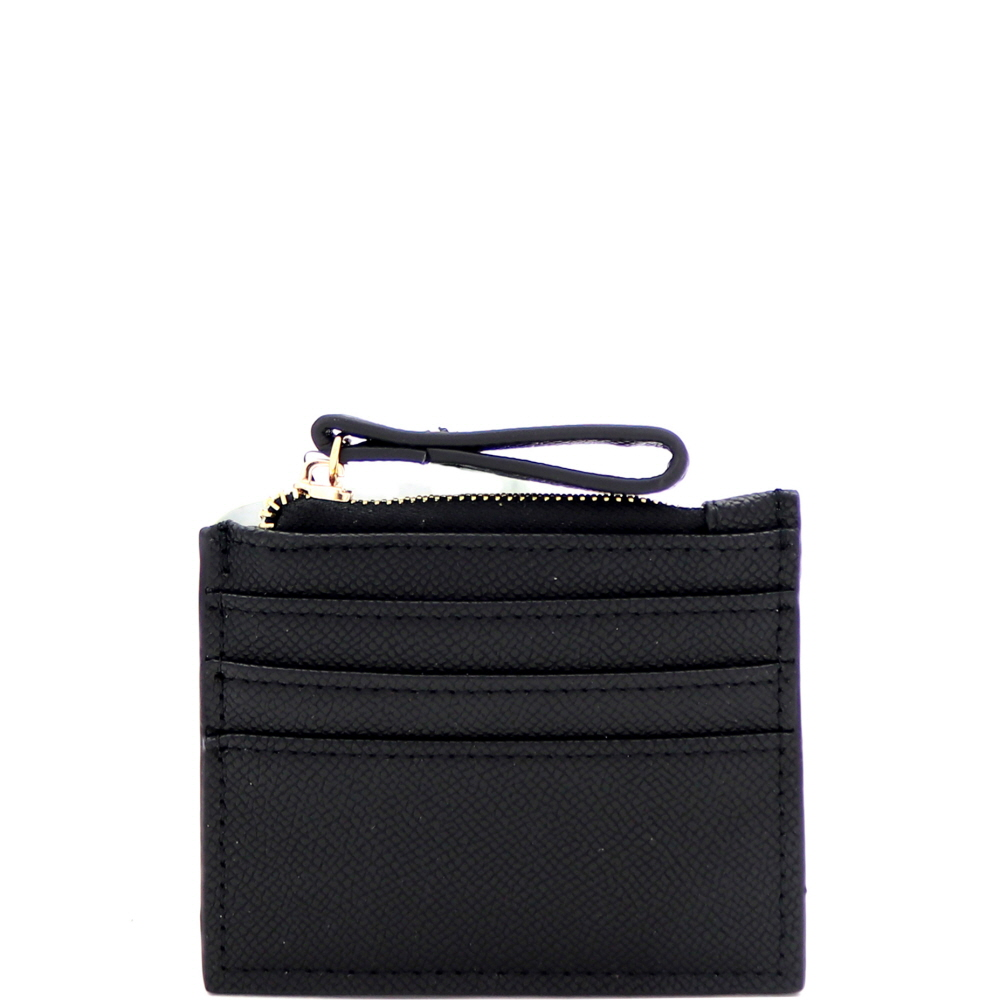 PPW2211 Simple Compact Credit Card Case Wallet Black
