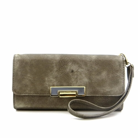 W757 Trifold Wristlet Wallet with Chain Strap Pewter