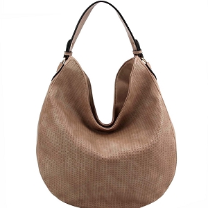 BAD0005 Perforated Single Strap Round Hobo Stone