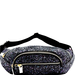 CTJY0007 Multi-colored Glitter 2 Way Fanny Pack Cross Body Multi5
