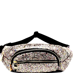 CTJY0007 Multi-colored Glitter 2 Way Fanny Pack Cross Body Multi4