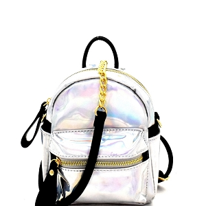 CTJY0034 Iridescent Metallic 2-Way Fanny Pack Cross Body Hologram