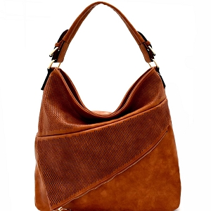 JN0001 Asymmetrical Pocket Layer Perforated Hobo Brown
