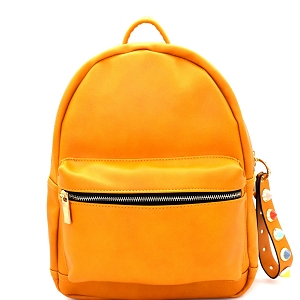 JY0192 Multi-Color Stud Charm Fashion Backpack Mustard