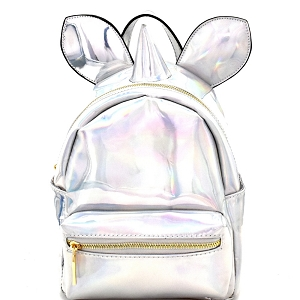 JY0250 Unicorn Theme Metallic Novelty Backpack Hologram