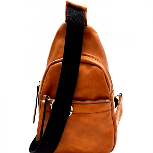 MC0038 Unisex Organizer Cross Body Sling Bag Brown