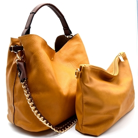 Q0004 (Q0004-3) Chain Accent 2 in 1 Hobo Mustard