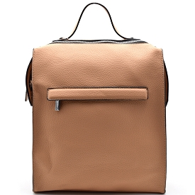 S0491 Convertible Boxy Backpack Cross Body Light Taupe