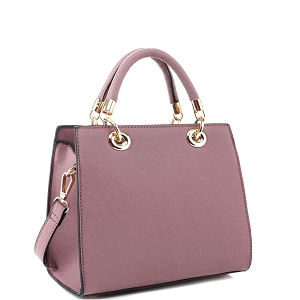 87536 Saffiano Classy Structured 2-Way Medium Satchel Lavender