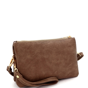 FC19100 Versatile 5-Compartment Wristlet Cross Body Stone