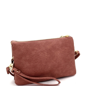 FC19100 Versatile 5-Compartment Wristlet Cross Body Mauve