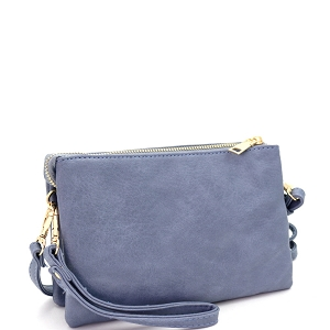 FC19100 Versatile 5-Compartment Wristlet Cross Body Blue