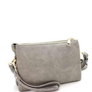 FC19100 Versatile 5-Compartment Wristlet Cross Body Light-Gray