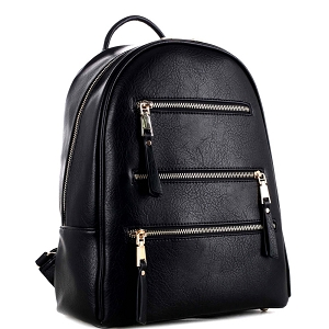 GS19605 Multi-Pocket Fashion Backpack Black