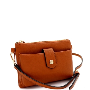 GS19696 Versatile Cellphone Compartment Cross Body Brown