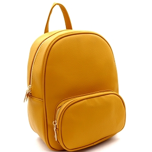 SM19519 Simple Classy Medium Fashion Backpack Mustard