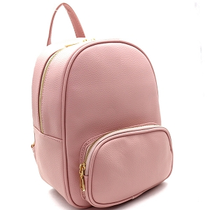SM19519 Simple Classy Medium Fashion Backpack Blush