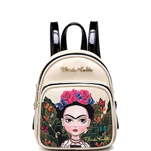 FJC1001M Authentic Frida Kahlo Cartoon Version Mini Backpack Black