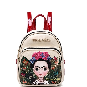 FJC1001M Authentic Frida Kahlo Cartoon Version Mini Backpack Red