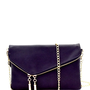 WU023 Fashion 2 Way  Flap Clutch Bag Deep-Sea