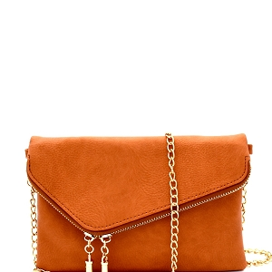 WU023 Fashion 2 Way  Flap Clutch Bag Topaz