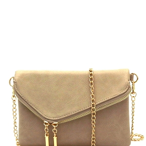 WU023 Fashion 2 Way  Flap Clutch Bag Brick