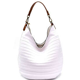 CJF023 Embossed Two-Tone Hobo White
